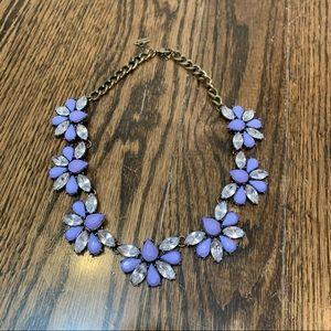 Purple Baublebar Floral Statement Necklace